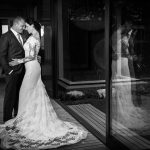 couple, married, lace, dress