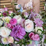 floral, roses, colorful
