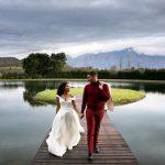 couple, view, happy, wedding, dress, suite