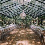 wedding venue, glass, floral