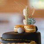 cake, macaroons, floral