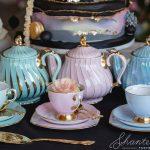 floral, tea set