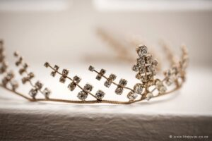 Grandmother's heirloom wedding tiara for the bride