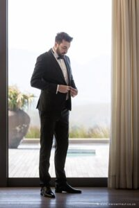 Groom getting ready and dressed for his wedding day and the big I do's