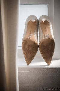 Wedding shoes with I do stickers