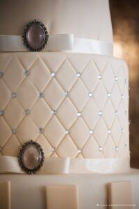 Luxury wedding cakes with diamanté's details, ribbon