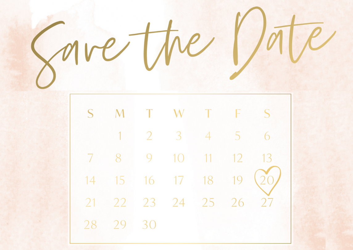 Unveil Elegance Events_ save the date stationery
